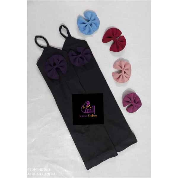 Bow Hand Sleeve - Purple